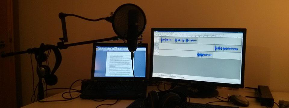 Das ist mein Podcast-Arbeitsplatz.