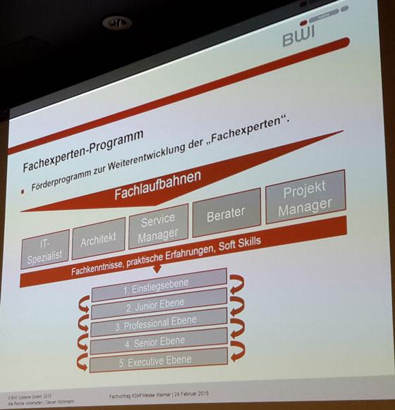 Laufbahnmodell bei der BWI auf Basis des itSMF PE