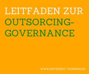 Cover des Leitfaden zur Outsourcing-Governance